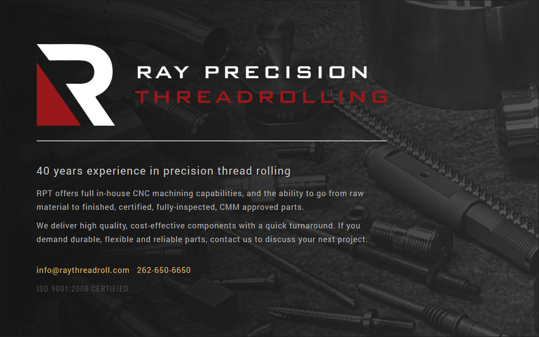 Ray Precision Threadrolling