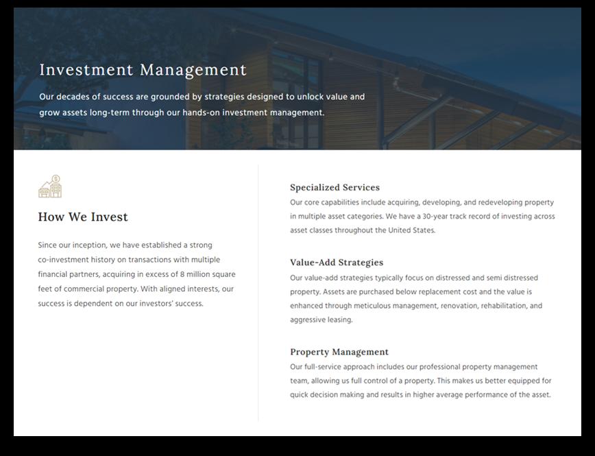 real estate advisors web design